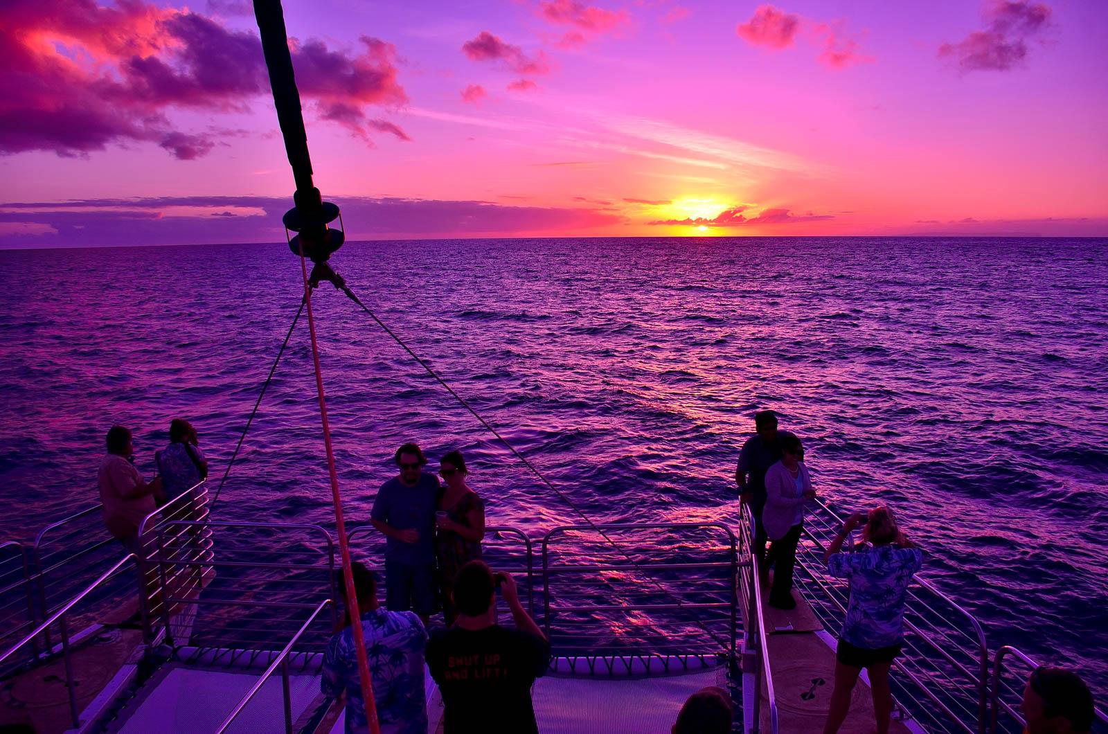 Napali Coast Sunset Dinner Blue